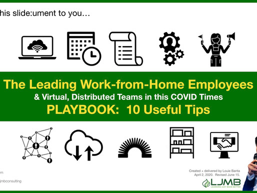 "The ""Leading Work-from-Home Employee & Virtual Teams in This COVID Times""​ Playbook: 10 Useful Tips"