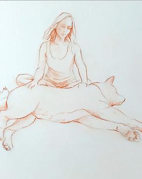 méditer avec son chien