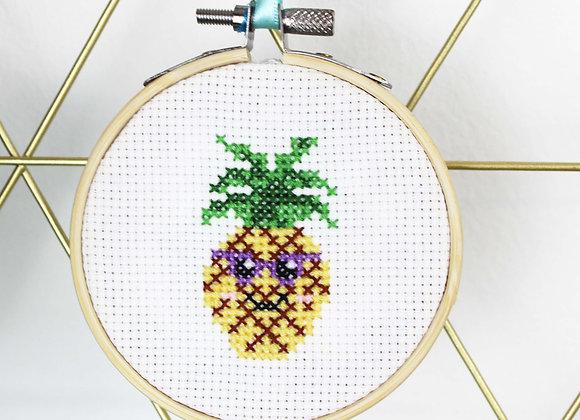 Pineapple mini cross stitch kit