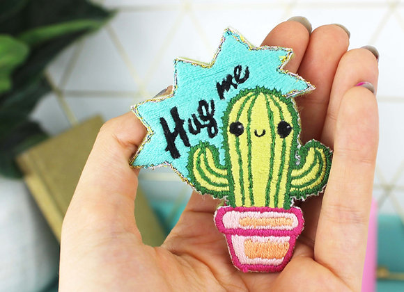 Cactus embroidery patch kit