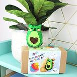 Avocado cat felt keyring kit
