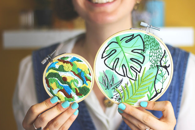 Nature embroidery crafting bundle