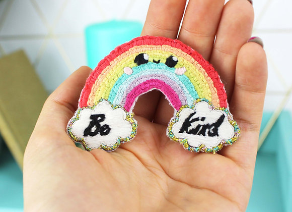 Rainbow embroidery patch kit