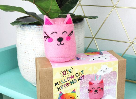 Mallow cat keyring craft kit