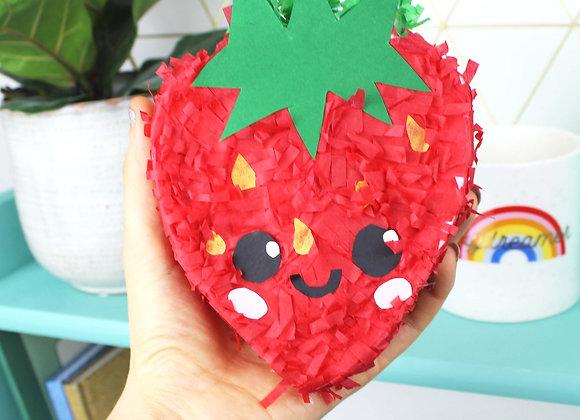 Strawberry mini pinata kit