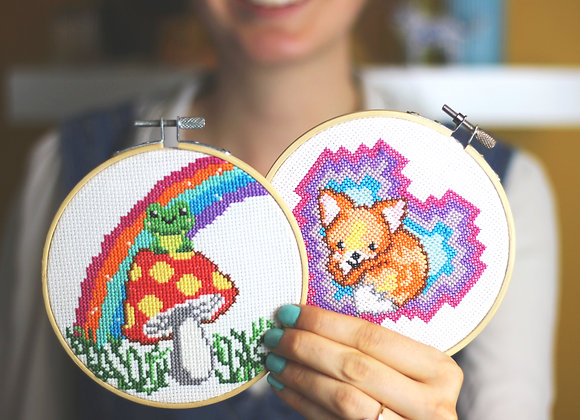 Woodland cross stitch kit bundle