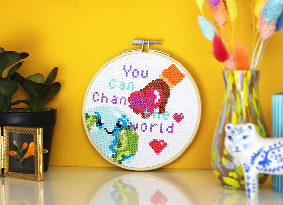 You can change the world cross stitch kit