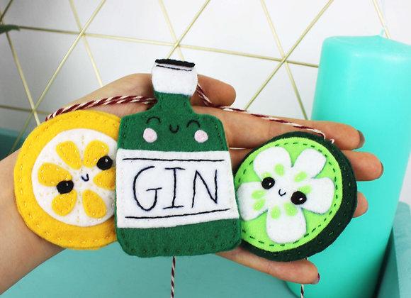 Gin mini felt bunting kit