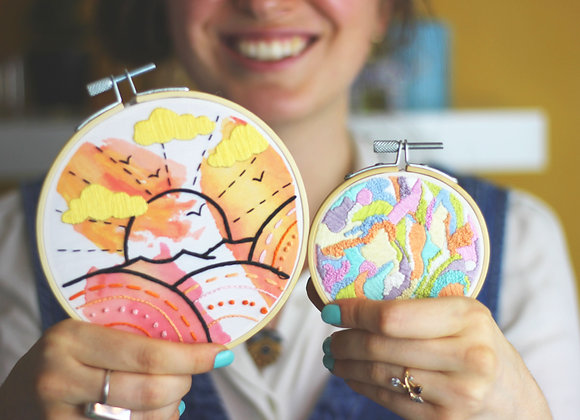 Dream hippy embroidery kit bundle