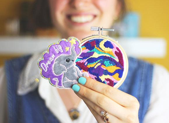 Keep dreaming embroidery craft kit bundle