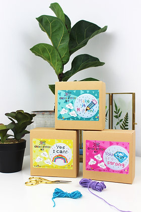 Motivational Mini Cross stitch crafting bundle