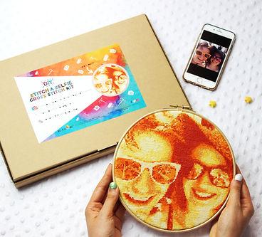 orange stitch a selfie kit