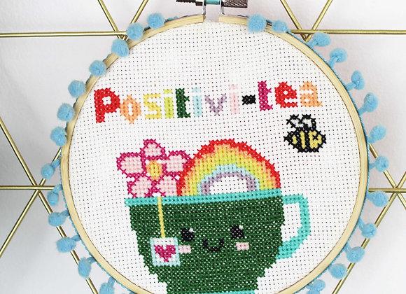 Positivitea cross stitch kit