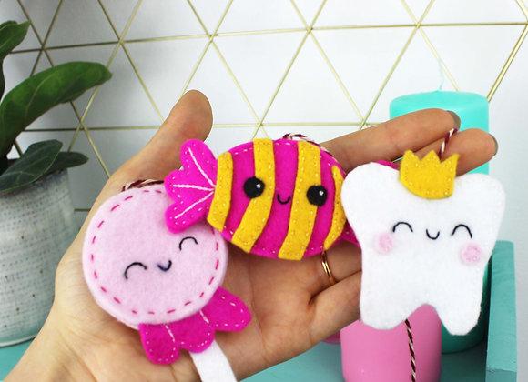 Candy mini felt bunting kit