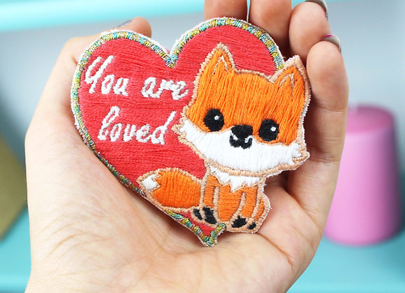 Fox embroidery patch kit