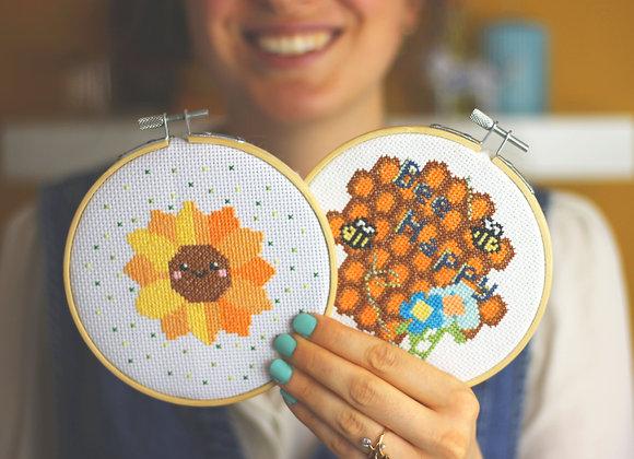 Sunshine cross stitch kit bundle