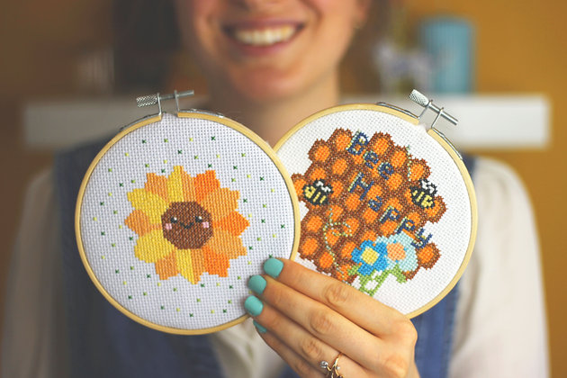 Sunshine cross stitch bundle