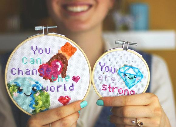 Change makers cross stitch kit bundle