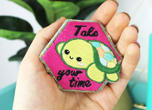 Tortoise embroidery patch kit