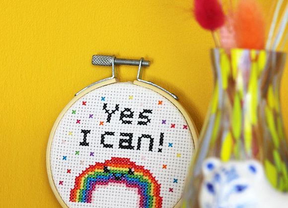 Yes I can mini cross stitch kit