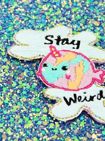 Stay weird - DIY patch kit