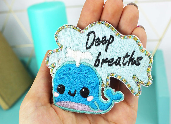 Whale embroidery patch kit