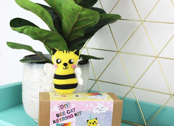 Bee cat keyring felt craft kit