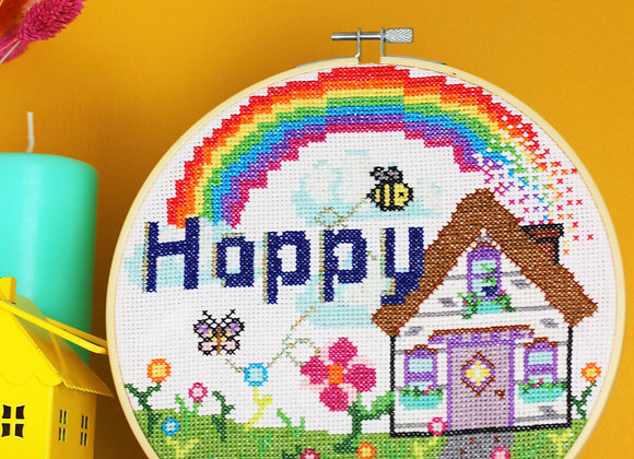 Happy home cross stitch kit