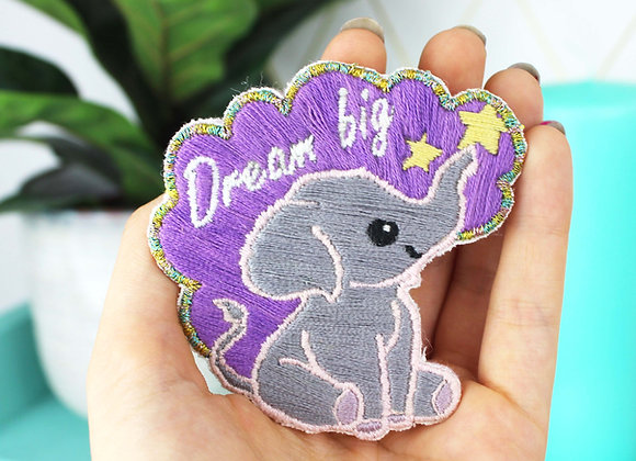 Elephant embroidery patch kit