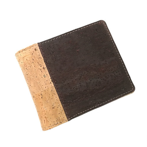 Hot Selling Bifold Cork Wallet Men Short Wallets Vegan Leather Card Wallet