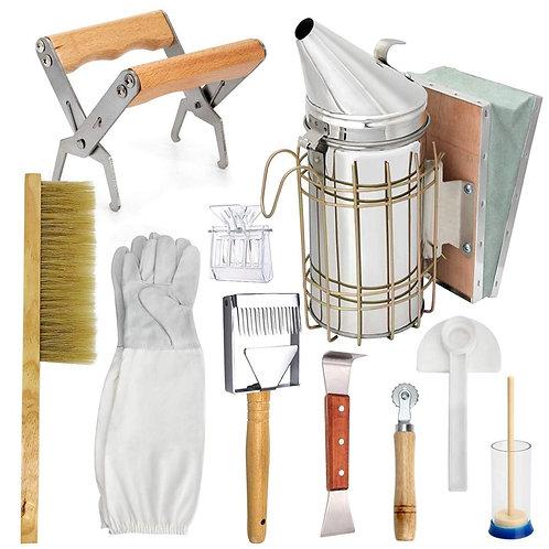 Beekeeping Honey Tool Kit -Starter Kit Set -10 Beekeeping Equipment Supplies