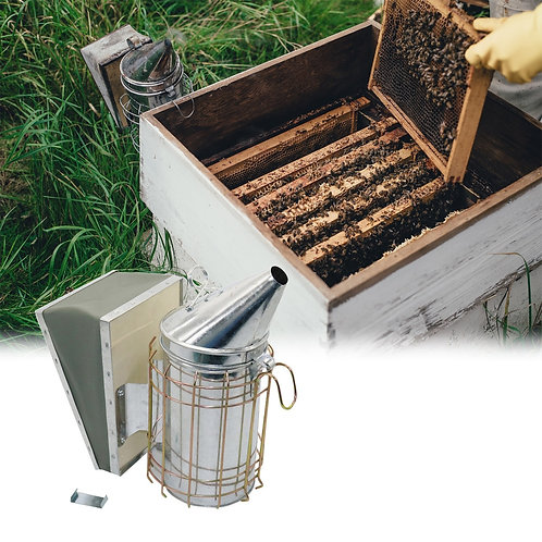 Stainless Steel Smoke Sprayer for Bee Apiculture Beekeeper Smoke Equipment -1 Pc