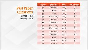 Past Paper Questions