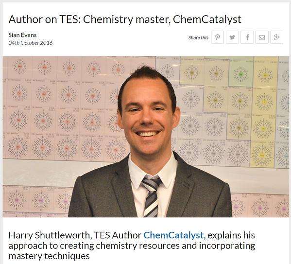 Author on TES: Chemistry Master, ChemCatalyst