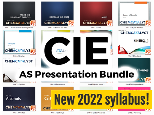 CIE AS Presentation Bundle