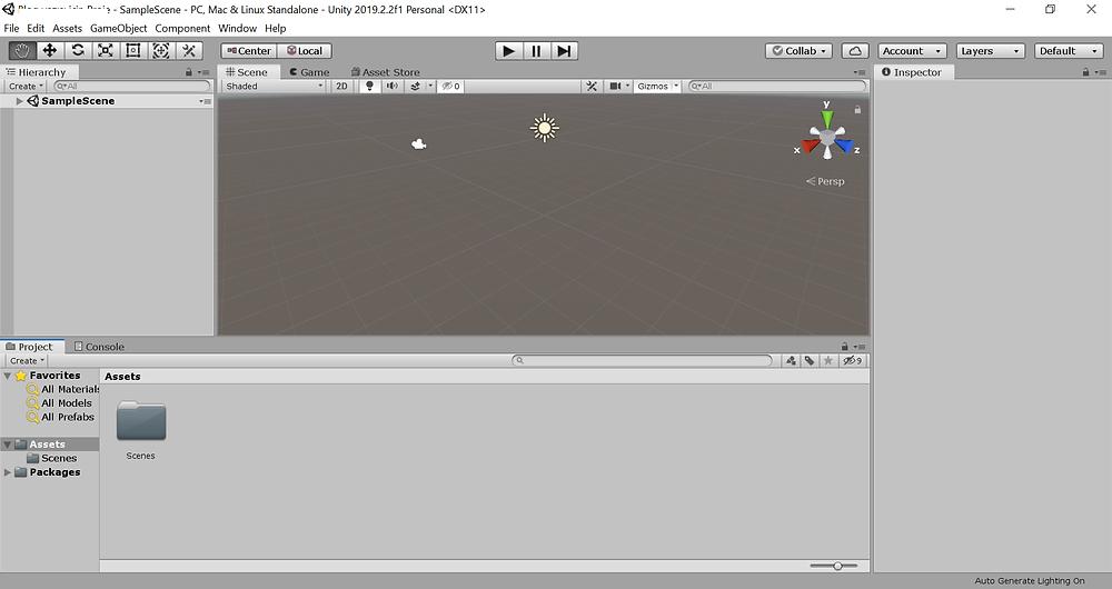 Unity Editor Açılış Ekranı
