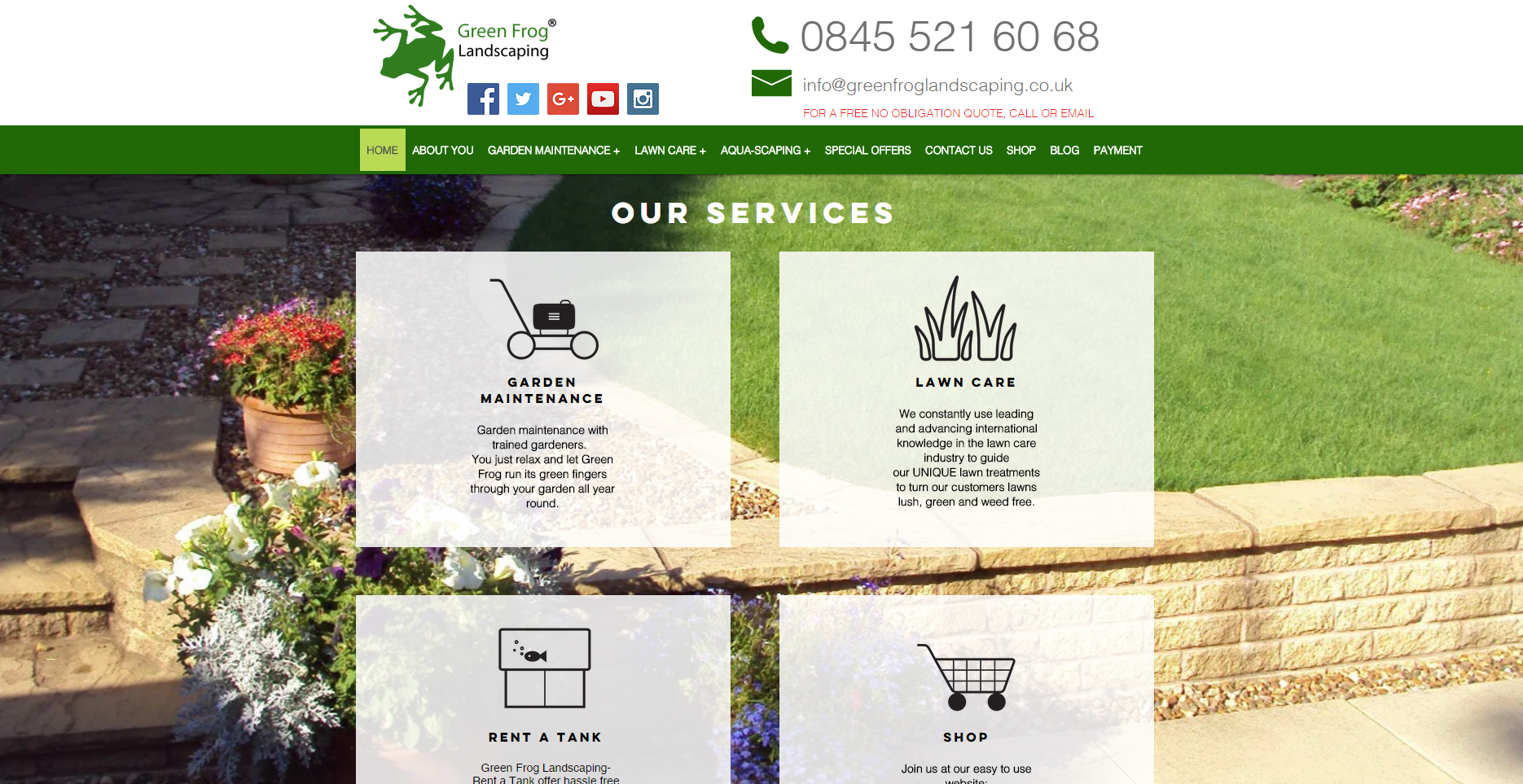 green frog landscaping lawn care