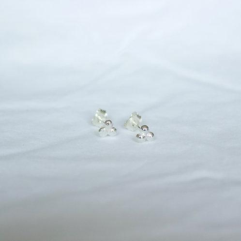 terling silver pebble earrings , sterling silver earrings, eco-friendly, handmade jewellery