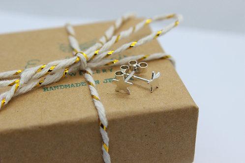 Sterling silver star earrings , sterling silver earrings, eco-friendly, handmade jewellery