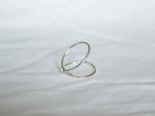 sterling silver criss cross ring, eco friendly, sterling silver ring