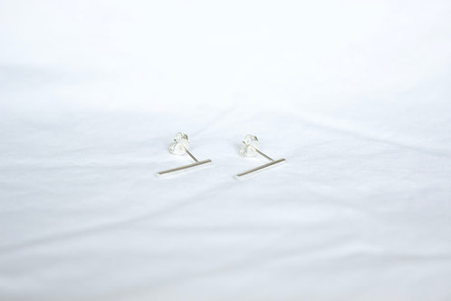 Sterling silver bar earrings , sterling silver earrings, eco-friendly, handmade jewellery