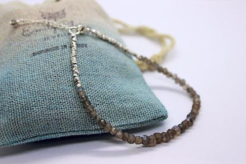 Labradorite and silver bracelet, handmade bracelet