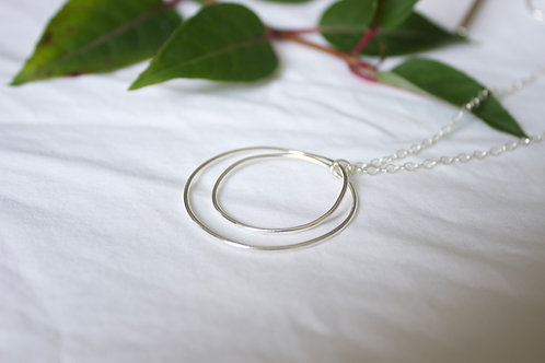 Sterling silver spiral circle necklace, sterling silver necklace, eco-friendly, handmade jewellery