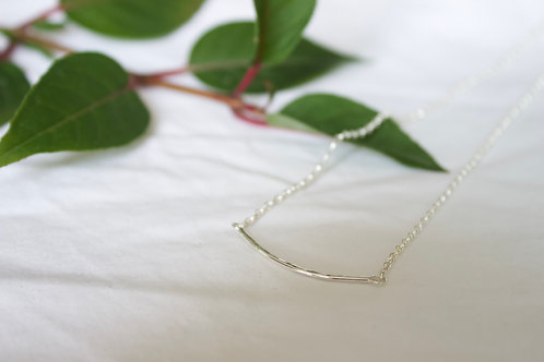 Sterling silver delicate curve necklace , sterling silver necklace, eco-friendly, handmade jewellery
