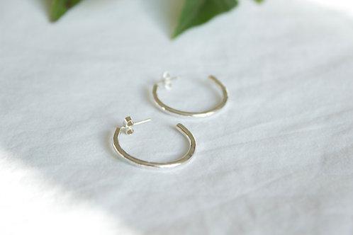 Sterling silver hoop earrings , sterling silver earrings, eco-friendly, handmade jewellery