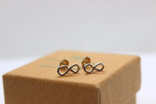 Sterling silver infinity loop earrings , sterling silver earrings, eco-friendly, handmade jewellery