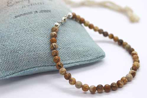 Plain Jasper Bracelet, eco friendly handmade jewellery