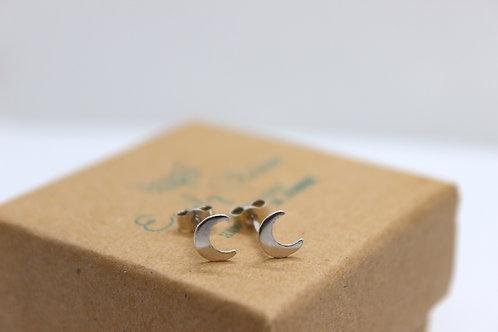 Sterling silver moon earrings , sterling silver earrings, eco-friendly, handmade jewellery