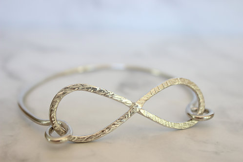 Sterling Silver Infinity Loop Bangle, eco friendly