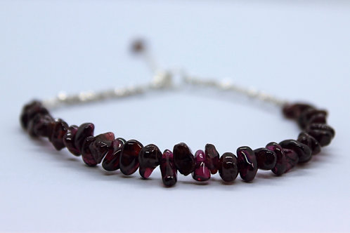 Garnet Gemstone bracelet, handmade gemstone bracelet
